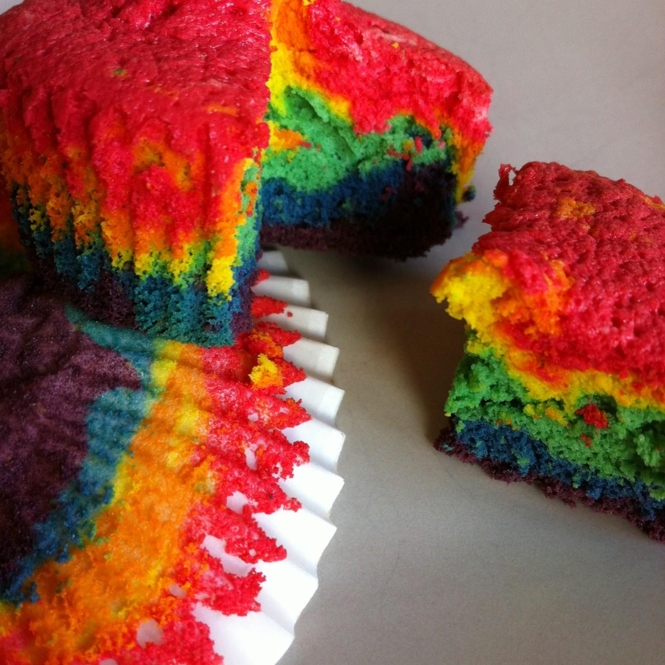 Regenbogenmuffins