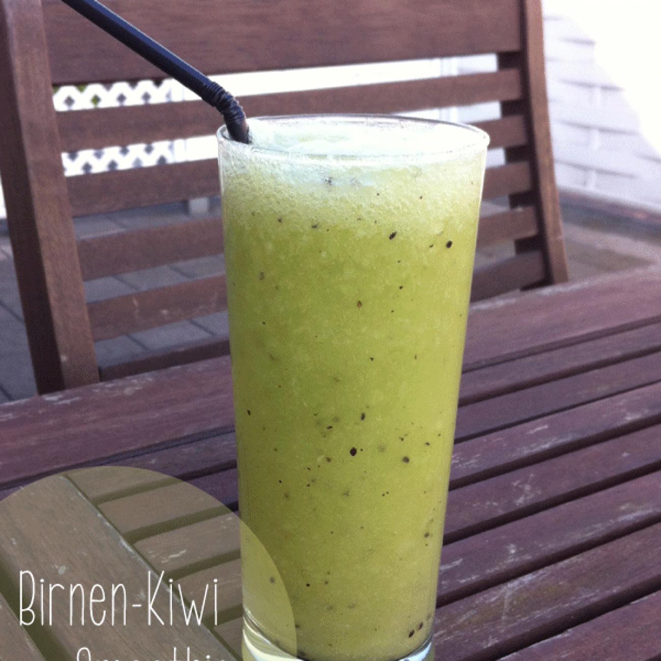 Birnen Kiwi Smoothie