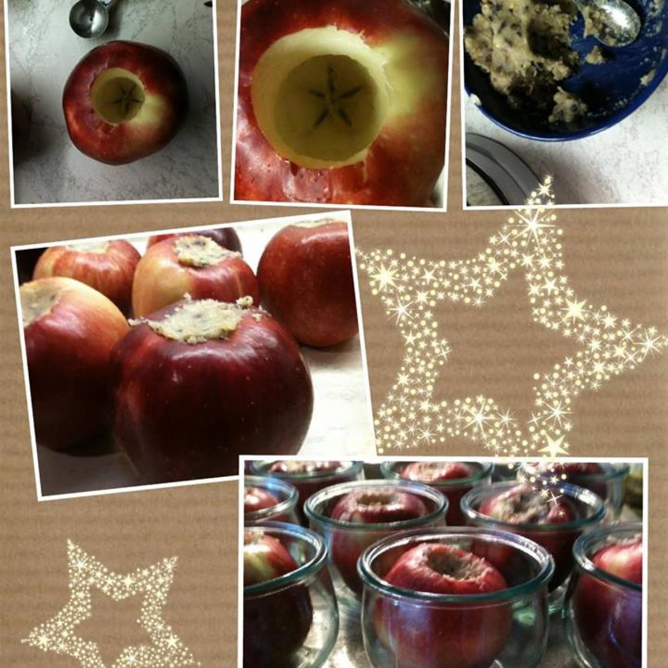 Eingeweckte Bratäpfel