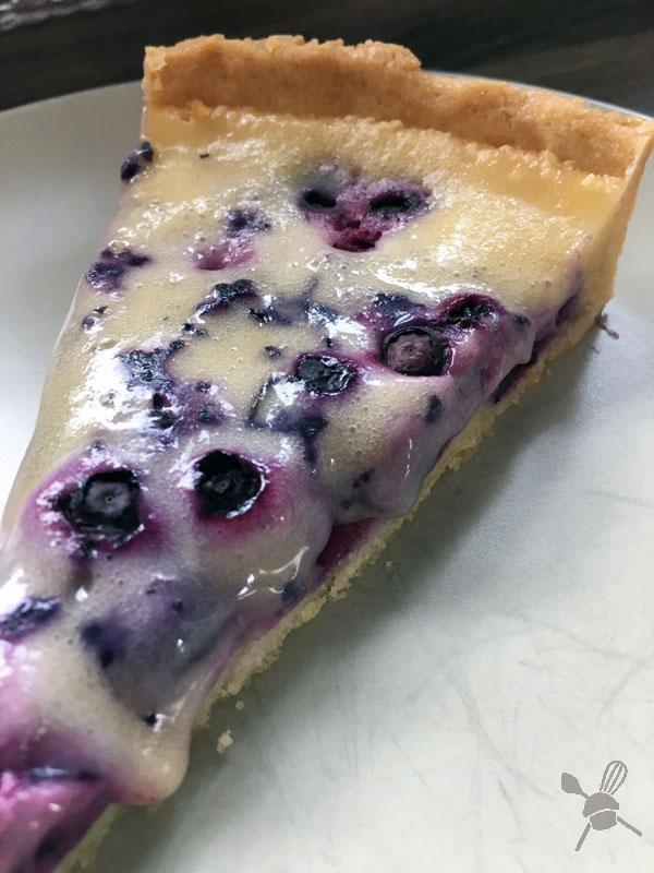 Kokosmus-Blaubeer Tarte